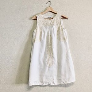 Madewell Embroidered White Cotton Dress